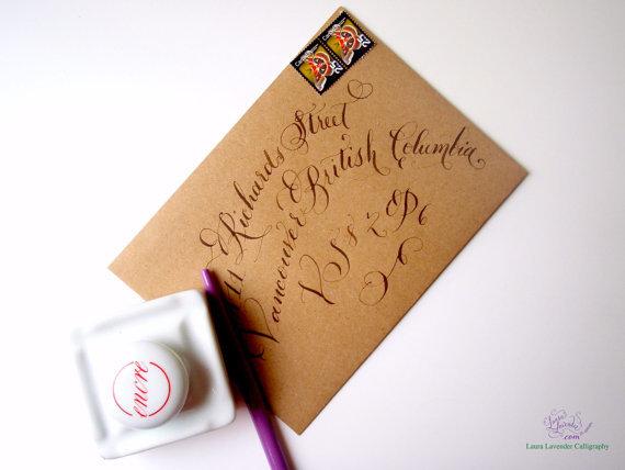 envelope address style
